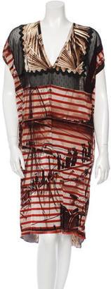 Jean Paul Gaultier Mesh Printed Dress $145 thestylecure.com