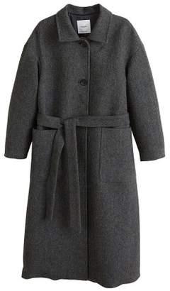 MANGO Buttoned herringbone coat