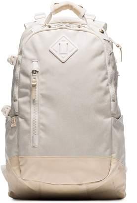 Visvim white Cordura 20L leather trim backpack