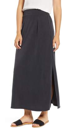 Everleigh Cupro Side Slit Maxi Skirt