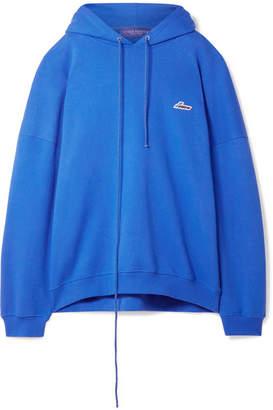 we11done Oversized Appliquéd Cotton-blend Jersey Hoodie