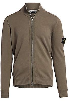 Stone Island Men's Zip-Up Wool-Blend Sweater