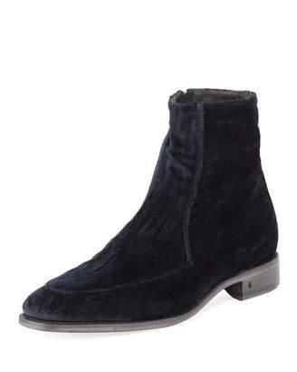 John Varvatos Men's Amsterdam Apron-Toe Velvet Boot