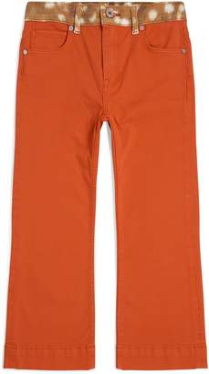Burberry Two-Tone Flare Jeans