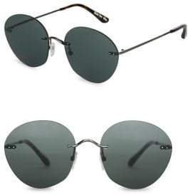 Toms Clara 55mm Round Sunglasses