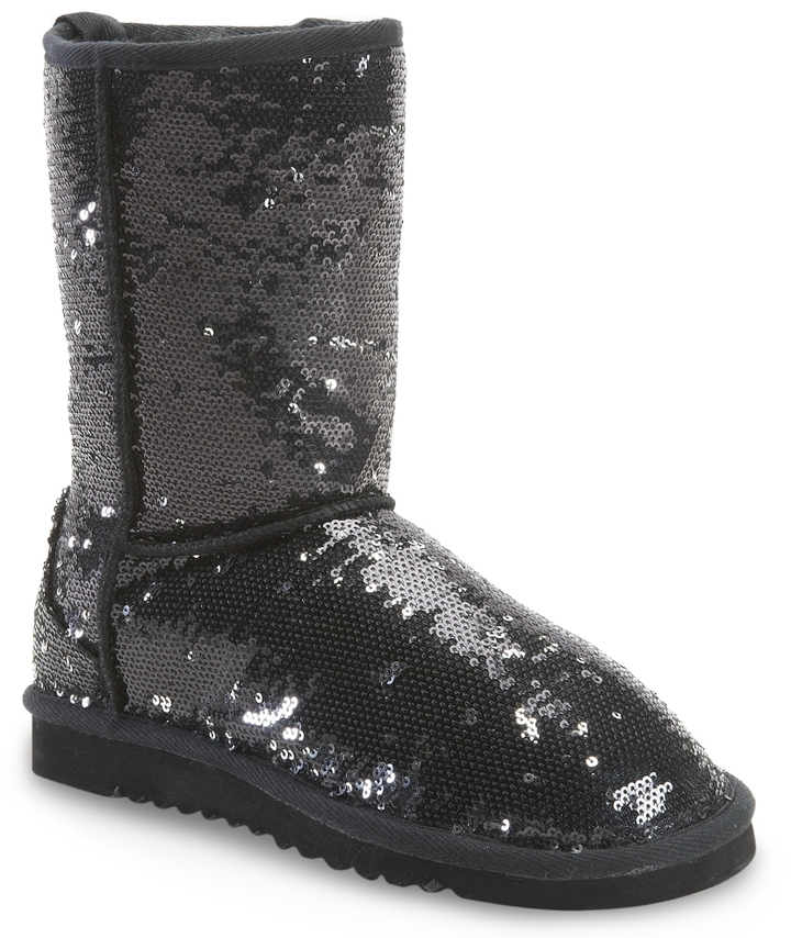 Aeropostale Sequin Sherpa Boot