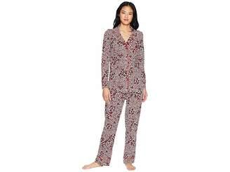 The Cat's Pajamas Snow Leopard Pima Knit Pajama Set