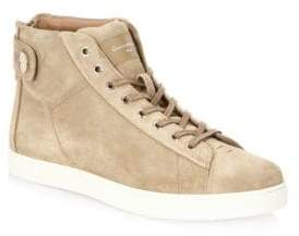 Gianvito Rossi Suede High-Top Sneakers