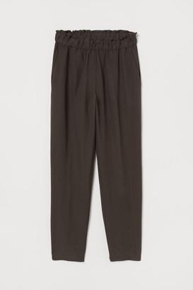 H&M Linen-blend Pull-on Pants - Beige