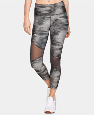 Under Armour HeatGear® Printed Mesh-Inset Leggings