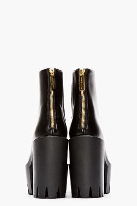 Stella McCartney Black Platform Ankle Boots