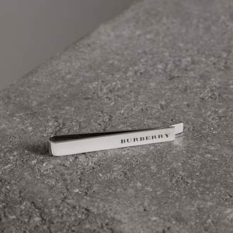 Burberry Engraved Bronze Tie Bar