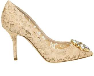 Dolce & Gabbana Decollete In Taormina Lace With Crystals