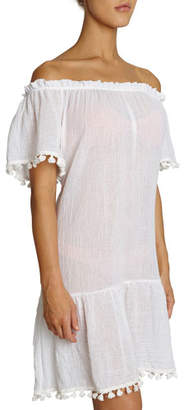 Eberjey Devon Off-Shoulder Cotton Coverup Dress