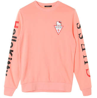 GUESS (ゲス) - GUESS x Hello Kitty SLEEVE LOGO CREW SWEAT
