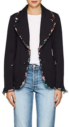 Comme des Garcons Women's Chiffon-Trimmed Wool Two-Button Blazer