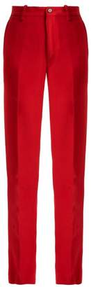 Connolly - High Rise Crepe Trousers - Womens - Red