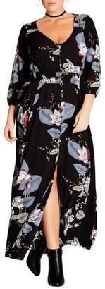 City Chic Blossom Maxi Dress