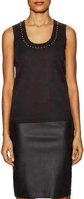 Givenchy Wool Embellished Scoop Neck Shell