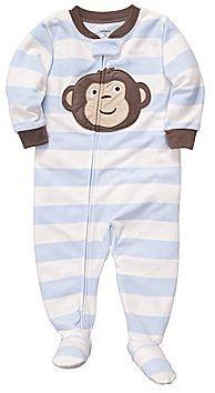 Carter's Monkey Fleece Sleep & Play - Boys 12m-24m