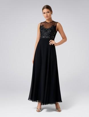 Forever New Carissa Lace Bodice Maxi Dress - Black - 4