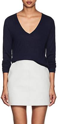 Barneys New York Women's Silk-Cashmere V-Neck Sweater - Navy
