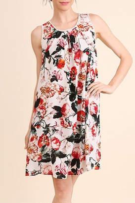 Umgee USA Cream Floral Dress