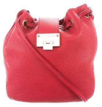 Jimmy Choo Leather Crossbody Bucket Bag