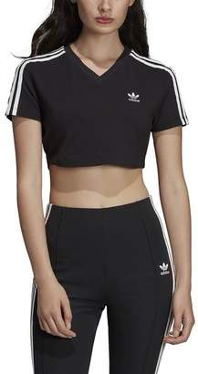 adidas 3-Stripe Cropped T-Shirt - Women's
