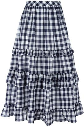 Twin-Set gingham check skirt $115.49 thestylecure.com
