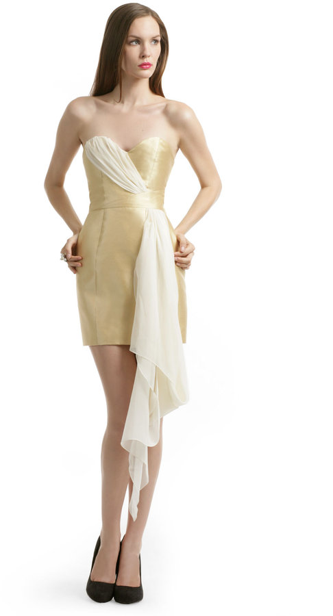 Erin Fetherston ERIN by Mikade Gold Sash Dress