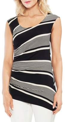 Vince Camuto Ruched Stripe Tank Top