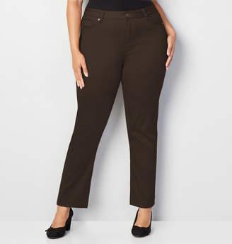 Avenue Butter Denim Straight Leg Jean in Brown