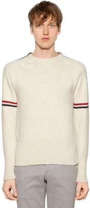Thom Browne Intarsia Stripes Wool & Mohair Sweater