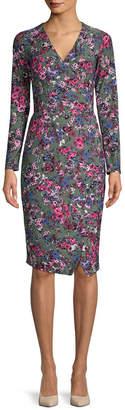 Rachel Roy Floral Tie-Waist Wrap Dress