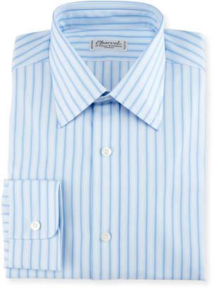 Charvet Striped Cotton Dress Shirt, Blue/White
