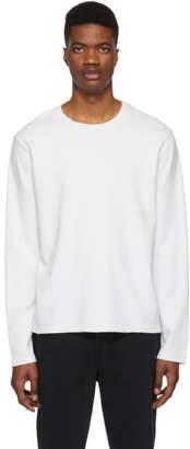 Frame White Raw Hem Long Sleeve T-Shirt