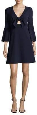 ABS by Allen Schwartz Tie-Front Dress