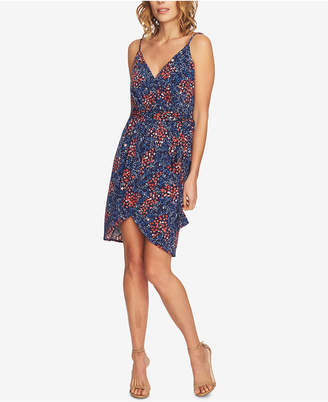 CeCe Floral-Print Wrap Dress
