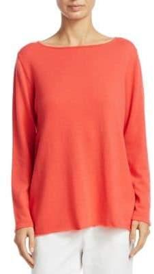 Fabiana Filippi Long-Sleeve Crepe Sweater