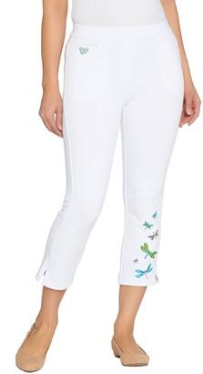 Factory Quacker DreamJeannes Crop Pants with Motif Details