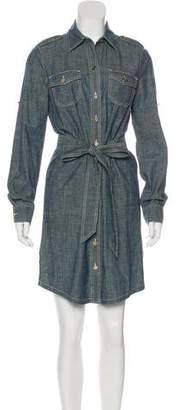 Tory Burch Button-Up Chambray Dress
