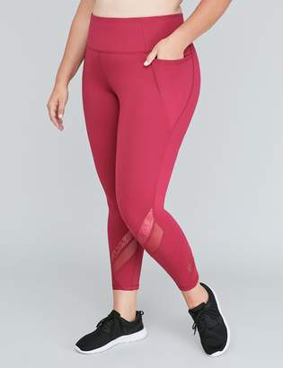 Lane Bryant Sculpting Active 7/8 Legging - Mixed Mesh Insets