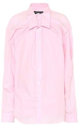 Y/Project Gathered cotton shirt