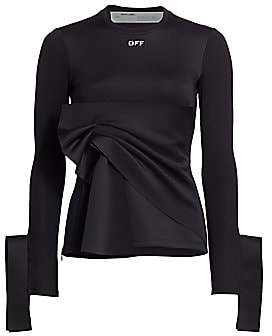 Off-White Women's Cuffed Wrap Top