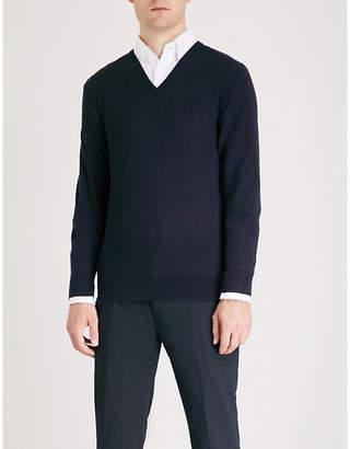 Ralph Lauren Purple Label V-neck wool and cashmere-blend jumper