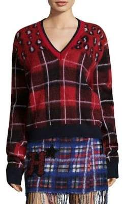 Tommy Hilfiger Tommy Tartan V-Neck Sweater