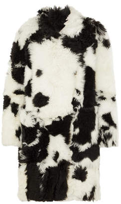 Petar Petrov Printed Shearling Coat - White