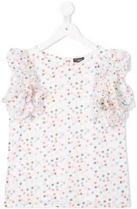 Lulu Velveteen confetti print blouse