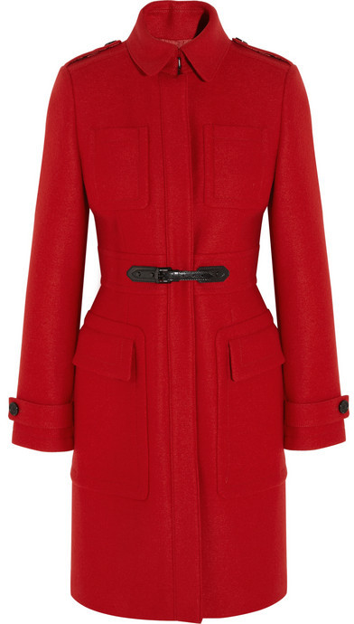 Burberry Buckle-detailed wool coat